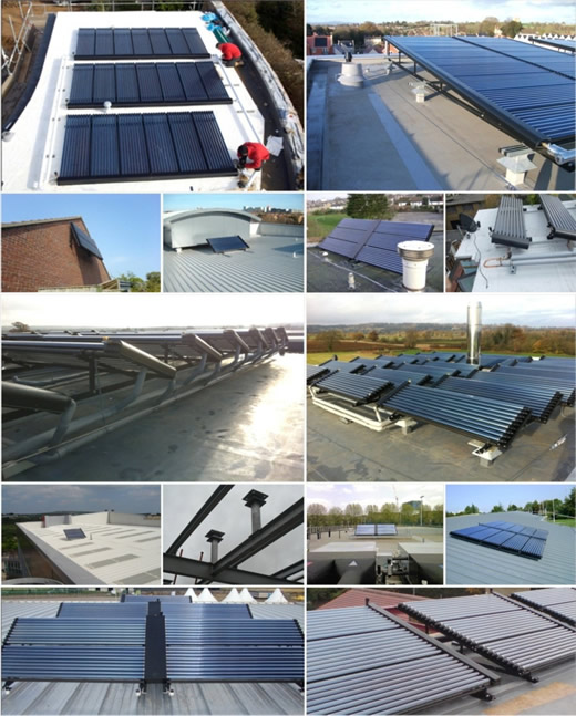 flat roof sdolar arrays fixed