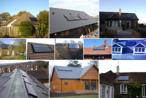 examples of solar mounted on a pitched roof