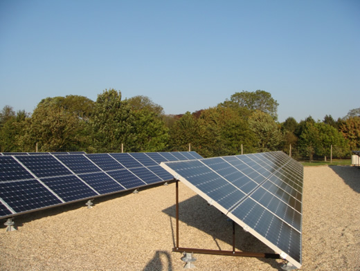 large scale solar PV on flat roof