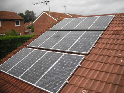 solar PV on tiled roof