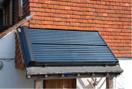 solar water heating on porch