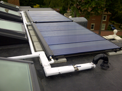 Solar panels flat roof mounting in surrey KT13 0PX