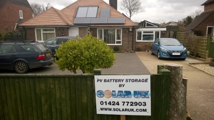 Solar PV Battery Storage Installation