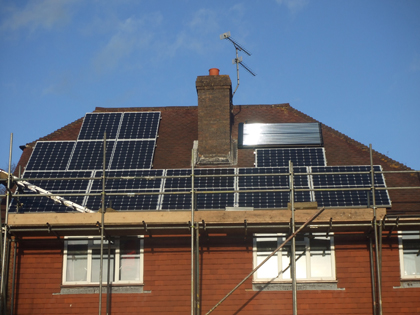 SolarPV install in progress in East Sussex
