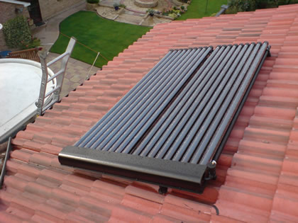 Domestic Solar Water Heating on Tiled Roof