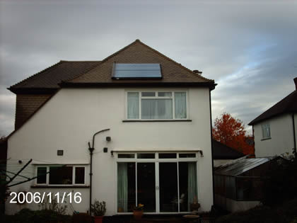 Solar Water Heating on 1930s Detached