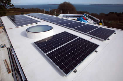 Large Scale Roof Mounted Solar PV Installation