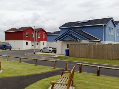 Housing Estate with Solar Heating