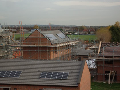 Solar energy installed on new development